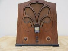 MARCONIPHONE RADIO MARCONI Mod. 256 CATHEDRAL 1930s TUBE VALVE WOOD ANTIQUE OLD