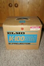 -= ELMO K-100 SM 8mm Movie Projector Made in Japan = NEW Belts and Lamp = VGC =-