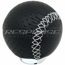 Razo RA128 Shift Knob Gear Knob Black Leather 240g Weighted Round / Ball JDM