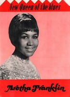 ARETHA FRANKLIN 1968 NEW QUEEN OF THE BLUES TOUR CONCERT PROGRAM BOOK / EX 2 NMT