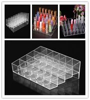 24 Grids Makeup Cosmetic Lipstick Storage Display Stand Rack Holder Organizer Y5