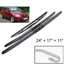 Front Rear Windshield Wiper Blades For Dodge Caliber 2006 - 2012 24''17''11''