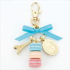 LADUREE Japan ❤ Bag Chain Key Ring Macaron Mint Blue w/ Original Box