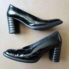 Vintage 1980s Size 34.5 Rodd Italian Black Patent Leather Women's Shoes