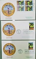 Stamps IOWA STATEHOOD First Day of Issue 32 cents 3 Stamps & Envelopes