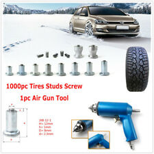 1000PCS Car Anti-slip Wheel Tires Studs Screw Snow Spikes +Nail Air Gun Tool Kit