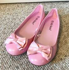 Pink Jelly Beans Pink Ballet Flat Dress Girls Shoes 12 Bow Formal  Party Recital