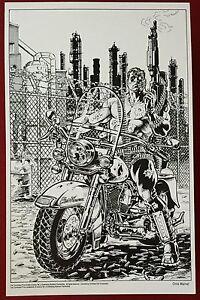 Terminator - 11x17 B&W Collecor Print By Chris Warner #2 - Dark Horse Comics