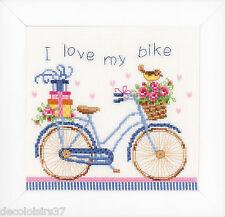 Vervaco  0021778  I love my Bike  Kit  Broderie  Point de Croix  Compté  Aïda