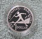 #C15. AUSTRALIAN 1992 BARCELONA OLYMPIC SILVER PROOF $1 DOLLAR COIN - COIN FAIR