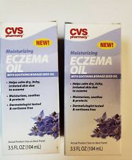 Lot of 2 CVS Moisturizing Eczema Oil with Borage Seed Oil 3.5 oz *NEW/Sealed*