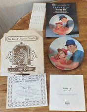 """Limited Edition Plate 1984 """"Batter Up"""" with all papers & Box"""