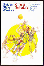 1976-77 GOLDEN STATE WARRIORS SECURITY PACIFIC BANK BASKETBALL POCKET SCHEDULE