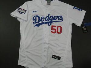 Mookie Betts #50 LA Dodgers 2020 World Series Champions Flex Base Jersey White