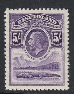BASUTOLAND SG9 1933 5/- VIOLET - UNMOUNTED MINT