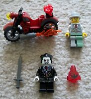 LEGO Monster Fighters - Rare - Lord Vampyre Vampire Dr Rathbone & Motorcycle +