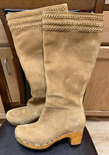 UGG Australia ROSABELLA 1956 Suede Leather Tall Boots Women's US Sz 10 EUC