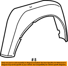 FORD OEM 04-09 F-150 Bed-Rear-Fender Liner Splash Shield Left 4L3Z8328371AA