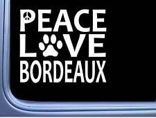 """Dogue de Bordeaux Peace Love L619 Dog Sticker 6"""" decal"""