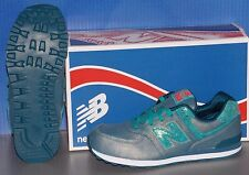KIDS NEW BALANCE KL 574 M8G in colors TEAL SIZE 7