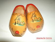 Cute Little Pair Of Wooden Shoes Made In Holland