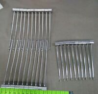 """(10) 9"""" and (21) 12"""" slatwall product hangers with slide in base silver metal"""