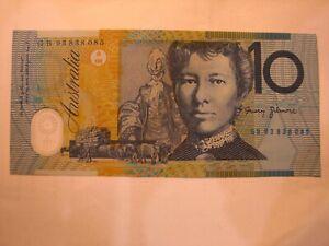 1993 Fraser/Evans $10 Blue Dobell first polymer general prefix banknote.