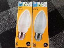 Small Edison Screw 40W LED Classic Candle Bulb x 2