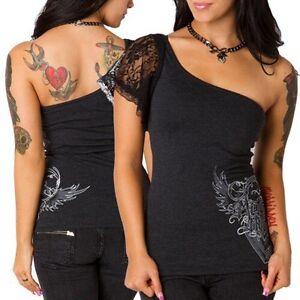 Metal Mulisha Ladies Boo Top Size S