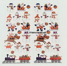 34 FUN CHRISTMAS STICKERS-FATHER CHRISTMAS-SNOWMAN-TRAIN-SLEIGH-REINDEER-XMAS