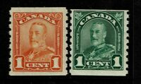 Canada SC# 178 and 179, Mint Hinged, Hinge Remnant - S3928