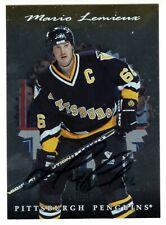 1996-97 Donruss Elite Mario Lemieux Autographed Card #109 JSA Penguins HOF