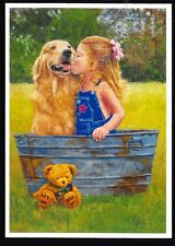 The Best of Friends, from an Original Mouth Painting by Chris Opperman.