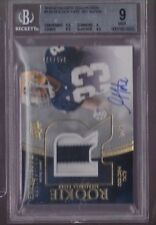 2010 UD Exquisite Golden Tate On Card Auto 2 Clr Patch Rc Srl # 45/120 BGS 9