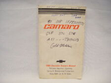 Original 1980 Chevrolet Chevy Camero Owners Manual Book S9