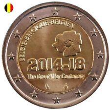 * LOT DE 5 PIECES - 2 EURO COMMEMORATIVE - UNC - BELGIQUE 2014