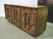 "Striking Lane Furniture ""Pueblo"" 9 Drawer Dresser; Refinished Top & Sides"