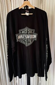 Harley Davidson Langhorn, PA Long Sleeve Black T-Shirt With Graphic Sleeves 3XL