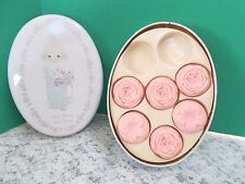 "1988 Precious Moments Tin With Decorator Scented Soaps- ""God Bless You Mom"""