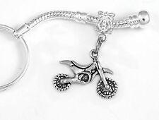 Dirtbike jewelry Dirtbike key chain Motocross gift Bike Present Cycle keychain