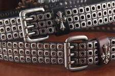 Gothic Heavy Metal Rivet REAL COWHIDE Belt Punk Rock Biker Studded Waist Belt