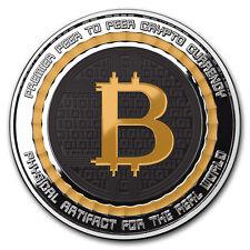 1 oz Silver Colorized Proof Round Bitcoin Value Conversion - SKU#162435