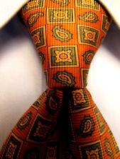 Mens Brooks Brothers Makers Orange Silk Tie A3595
