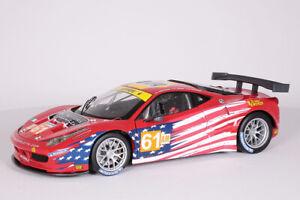 Ferrari 458 Itala GT2  Le Mans 2012 - AF Corse Hot Wheels 1:18 NEU BCT78