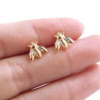 1Pair Lovely Bee Insect Shape Stud Earrings Ear Stud Women Fashion Jewelry Gift