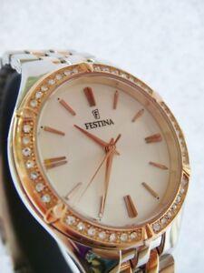 New FESTINA Mademoiselle Ladies Rose Gold Steel Watch F20224/2