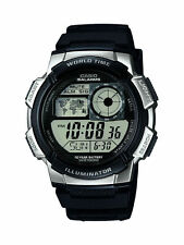 Casio DIGITALE CRONOMETRO World Time 100m resistente all' acqua WATCH ae-1000w-1a2vef