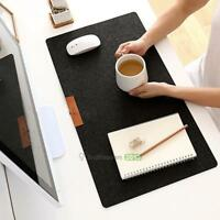 1xSoft Felt Anti-Slip Mouse Pad Mat Table For Gaming Computer PC Desk Keyboard