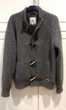 sze L greyblk marl lambswool BAILEYS jkt with concealed zip & dufflecoat buttons