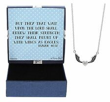 Mothers Day Gifts Christian Gifts Isaiah 40:31 With Wings as Eagles Necklace Box